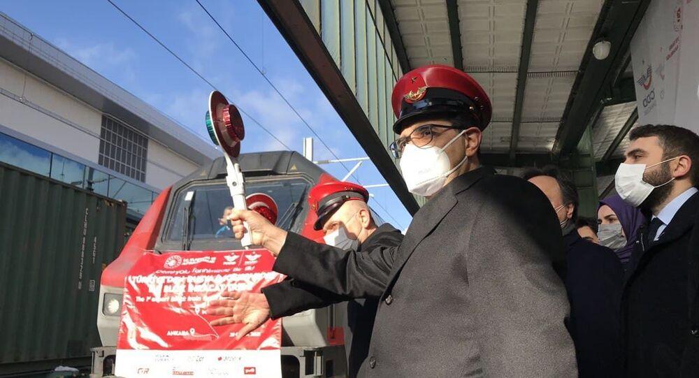 Türkiye'den Rusya'ya ilk blok ihracat treni