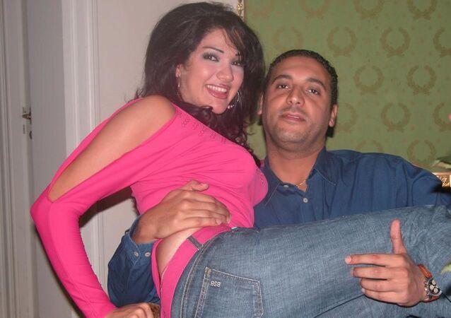 Öldürülen Libya lideri Albay Muammer Kaddafi'nin 5. oğlu Hannibal Kaddafi ile eşi Aline Skaf