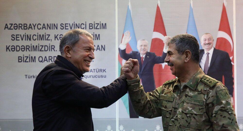 Milli Savunma Bakanı Hulusi Akar - Azerbaycan Savunma Bakanı Zakir Hasanov