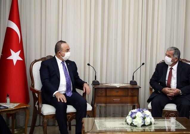 Dışişleri Bakanı Mevlüt Çavuşoğlu - Kuzey Kıbrıs Cumhuriyet Meclisi Başkanı Önder Sennaroğlu