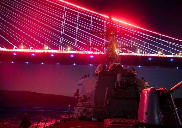 ABD Donanması'ndan İstanbul Boğazı'nda 'kırmızı ışık' paylaşımı