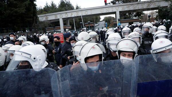 Boğaziçi Üniversitesi, protesto, gözaltı - Sputnik Türkiye