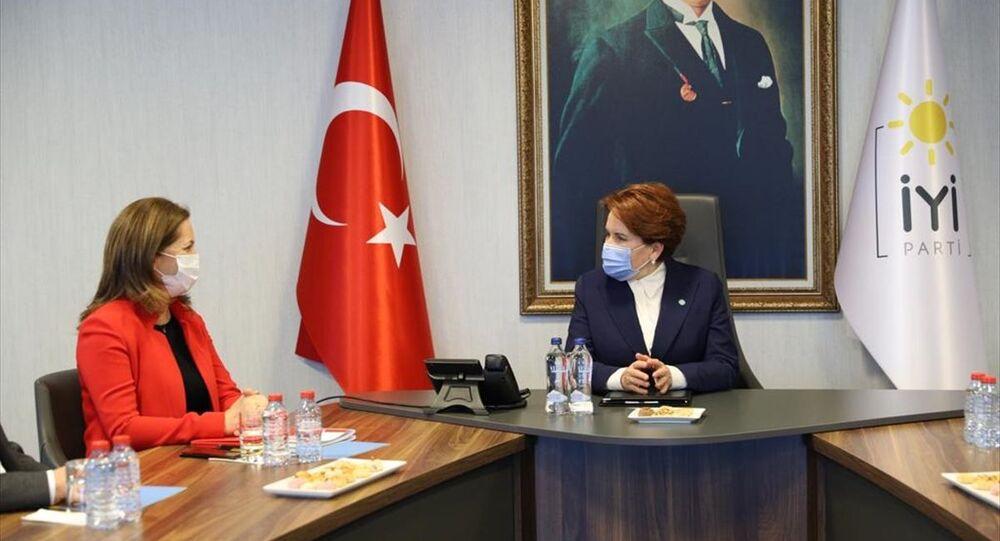 DİSK Genel Başkanı Arzu Çerkezoğlu ve beraberindeki heyet, İYİ Parti Genel Başkanı Meral Akşener'i ziyaret etti.