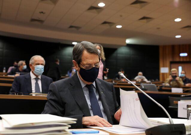 Güney Kıbrıs'taki altın pasaport skandalıyla ilgili soruşturma komisyonuna ifade veren Cumhurbaşkanı Nikos Anastasiadis