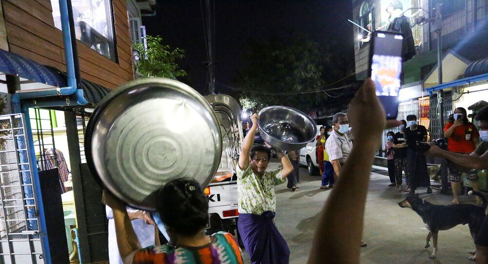 Myanmar'da darbe karşıtı protestolar