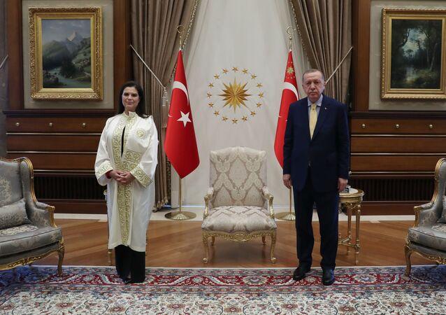 Cumhurbaşkanı Recep Tayyip Erdoğan - Çukurova Üniversitesi Rektörü Prof. Dr. Meryem Tuncel