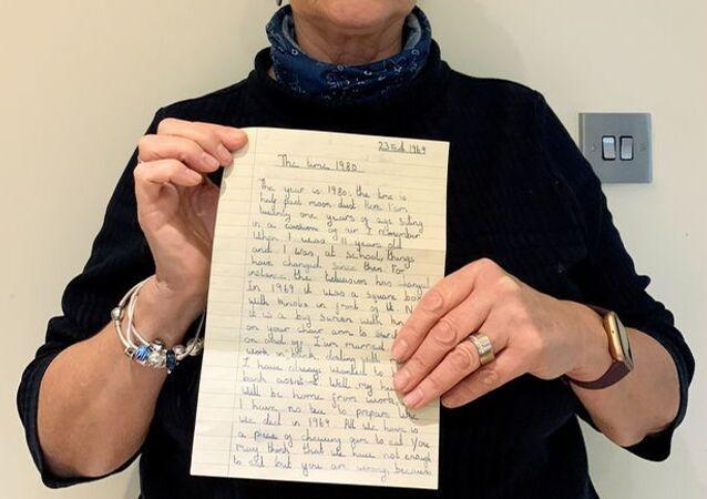 İngiltere'de 1969'da küçük bir kızın yazdığı ve gerçekleşen tahminler içeren mektup ortaya çıktı