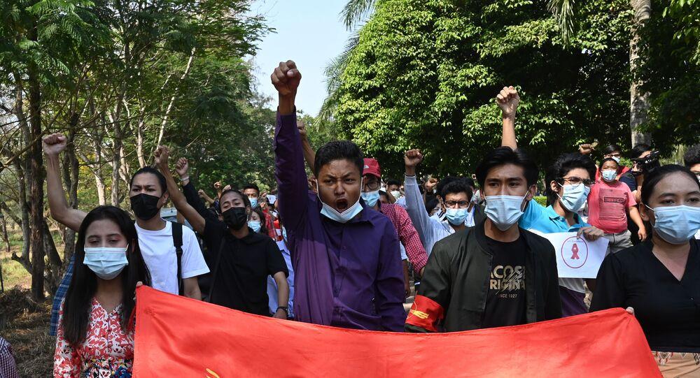 Myanmar'da eylemler