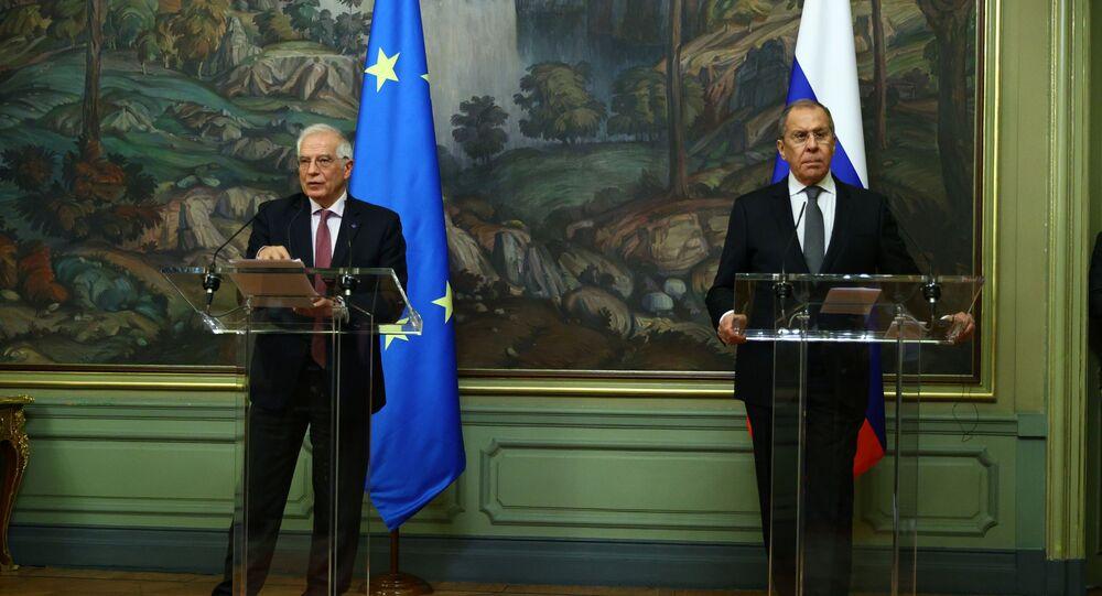 Rusya Dışişleri Bakanı Sergey Lavrov ve Avrupa Birliği (AB) Dış İlişkiler ve Güvenlik Politikası Yüksek Temsilcisi Josep Borrell