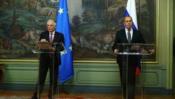 Rusya Dışişleri Bakanı Sergey Lavrov ve Avrupa Birliği (AB) Dış İlişkiler ve Güvenlik Politikası Yüksek Temsilcisi Josep Borrell - Sputnik Türkiye