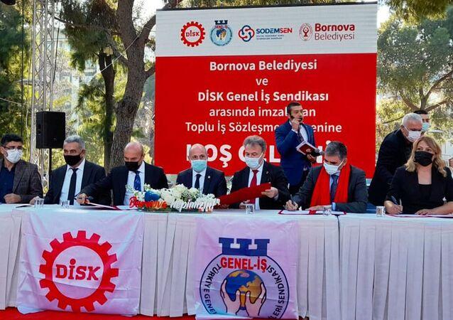 Bornova Belediyesi'nde asgari ücret 5 bin 890 lira oldu