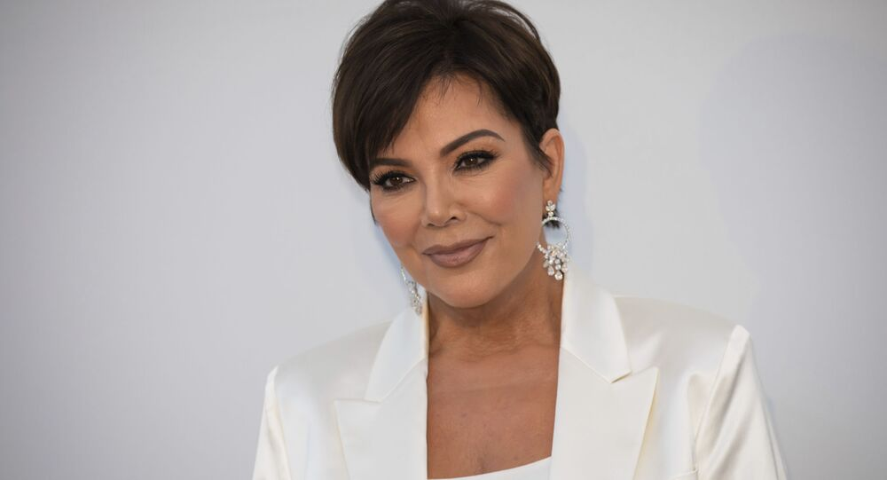 Kris Jenner poses for photographers upon arrival at the amfAR, Cinema Against AIDS, benefit at the Hotel du Cap-Eden-Roc, during the 72nd international Cannes film festival, in Cap d'Antibes, southern France, Thursday, May 23, 2019
