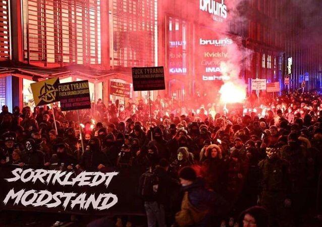 Denimarka protestolar