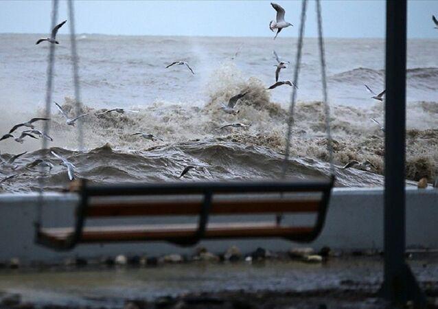 Fırtına, rüzgar, dalga, salıncak