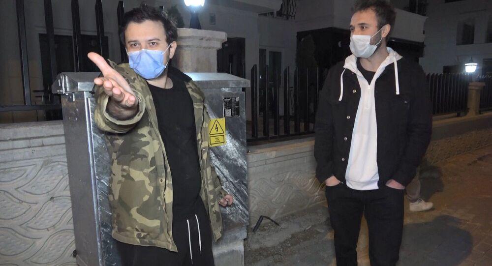 Bursa'da sokağa çıkma kısıtlamasını ihlal eden ve alkollü araç kullanan arkadaşlar