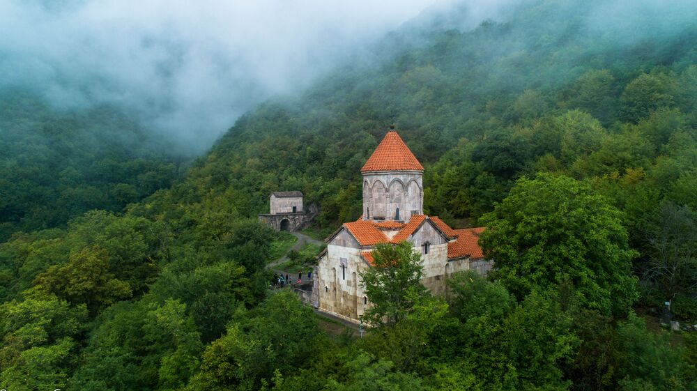 Wiki Anıtları Seviyor 2020 yarışmasının kazananlarından Ermenistan'daki 10-11 yüzyıllarına ait olan Vahanavank manastır kompleksinin fotoğrafı