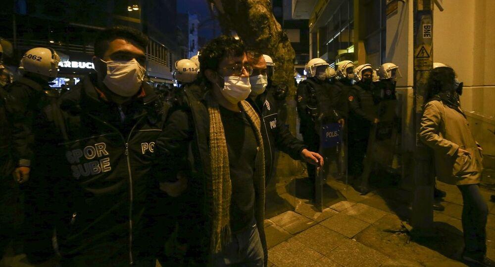 Kadıköy'deki Boğaziçi eylemi