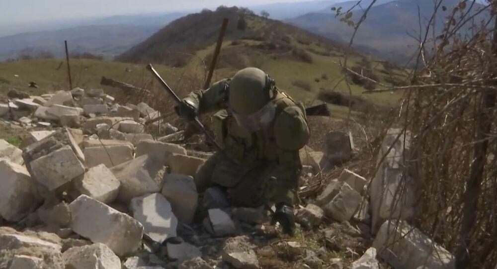 Dağlık Karabağ'daki Rus mayın temizleme uzmanları çalışmalarına devam ediyor