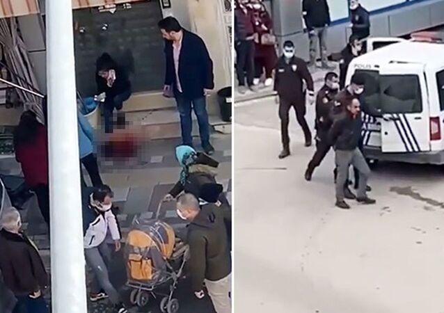 16 yaşındaki kızını sokakta boğazından bıçakladı