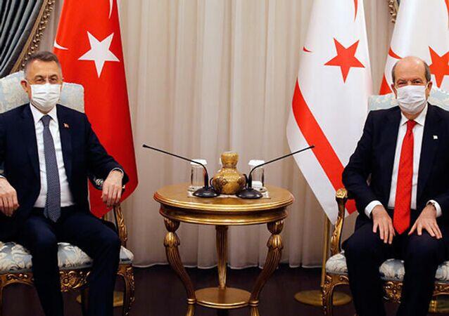 Cumhurbaşkanı Yardımcısı Oktay ve Kuzey Kıbrıs Cumhurbaşkanı Tatar'dan ortak açıklama
