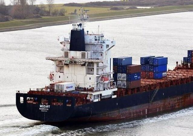 Liberya bayraklı 'Mozart' isimli gemi