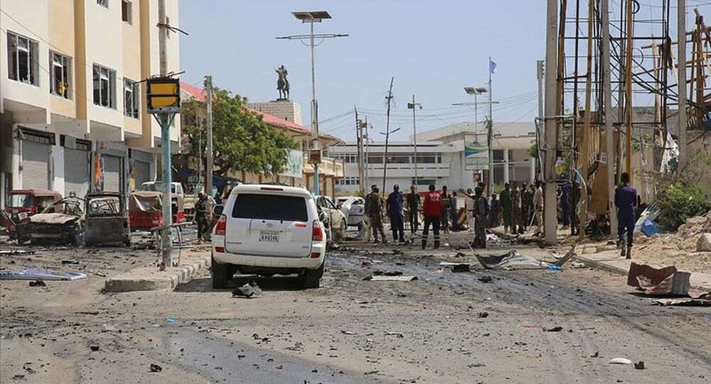 Somali'nin başkenti Mogadişu'da büyük bir patlama
