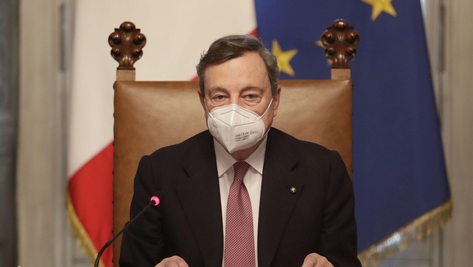 İtalya'nın yeni Başbakanı Draghi - Sputnik Türkiye, 1920, 08.04.2021
