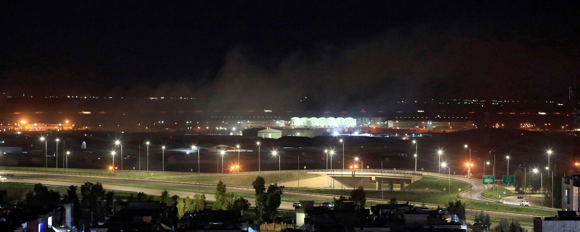 Irak'ın Erbil kentinde ABD askeri üssünün de bulunduğu bir havaalanına füzeli saldırı düzenlendiği bildirildi - Sputnik Türkiye, 1920, 07.07.2021