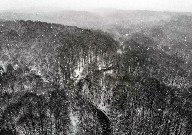 İstanbul'da şehrin kalabalığından kaçmak isteyen vatandaşların ilk tercihleri arasında yer alan Belgrad Ormanı'nın beyaza bürünmüş hali kartpostallık manzaralar ortaya çıkarttı.