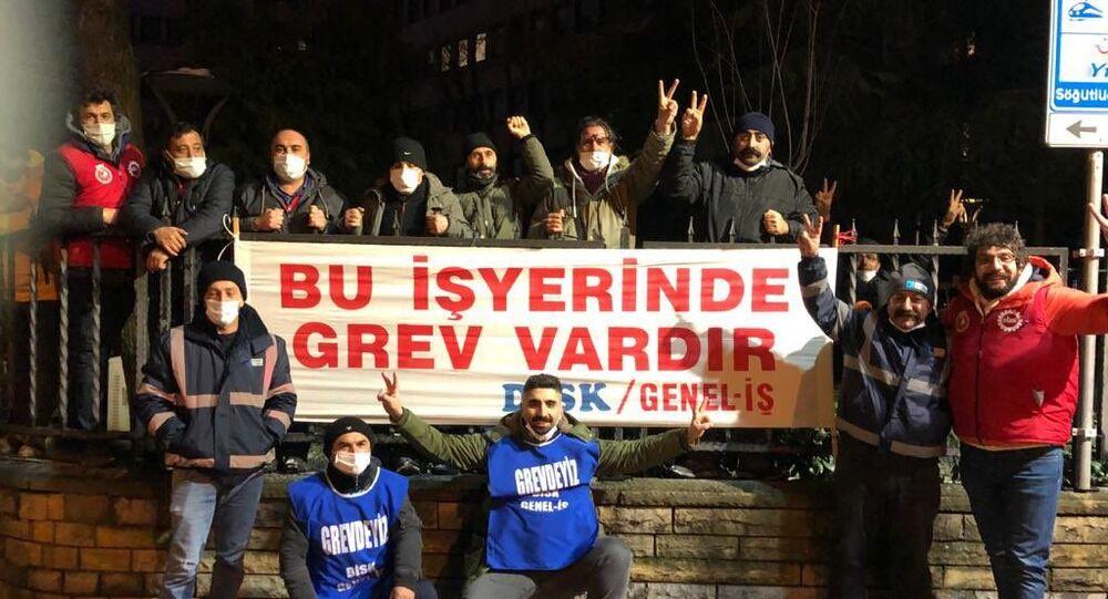 Kadıköy Belediyesi işçileri greve başladı