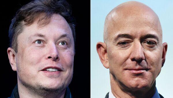 Elon Musk- Jeff Bezos - Sputnik Türkiye
