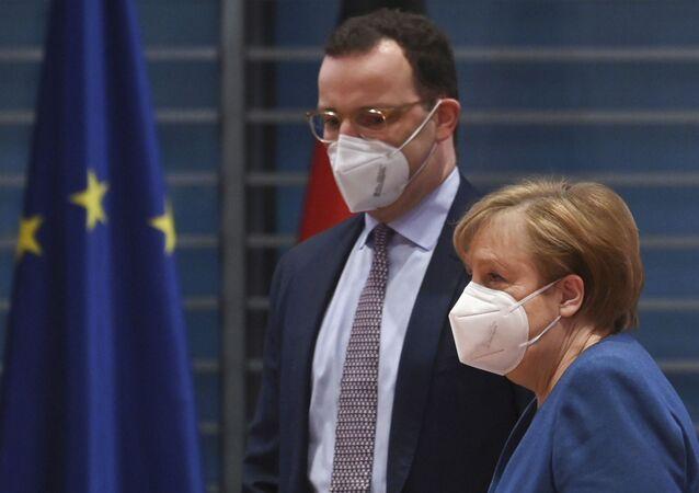 Jens Spahn , Angela Merkel