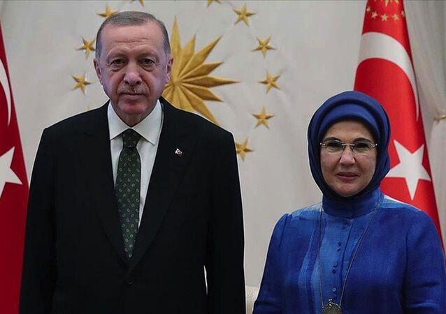 Cumhurbaşkanı Recep Tayyip Erdoğan ve eşi Emine Erdoğan