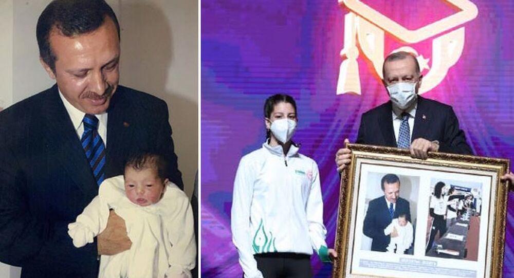 Doğduğu gün Erdoğan'la fotoğrafı olan sporcu: Bir daha yan yana gelebilir miyiz diye düşünüyordum, hayalim gerçek oldu