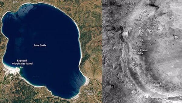 NASA için Salda'da araştırma yapan Prof. Dr. Balcı: Bu göl, Mars'ın 3.5 milyar yıl önceki halini gösteriyor olabilir - Sputnik Türkiye