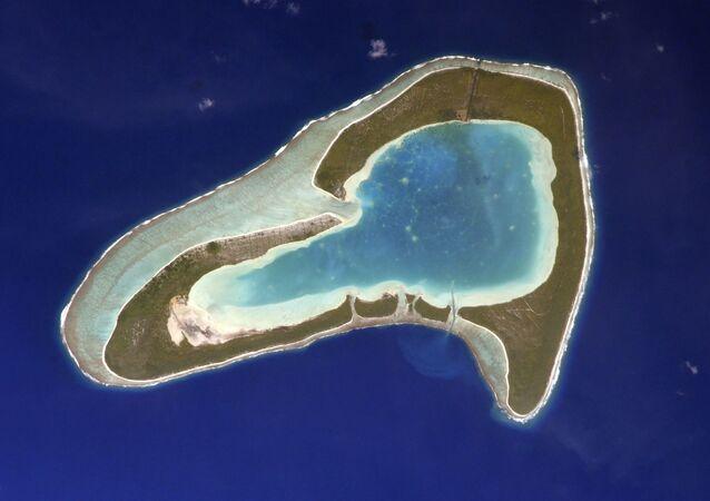 Fransız Polinezyası'nda yer alan kalp şekli Tupai Adası