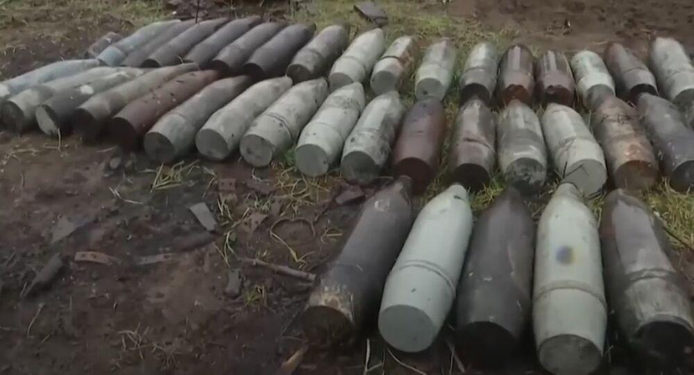 Rus barış güçleri Dağlık Karabağ'da patlayıcı temizleme çalışmaları gerçekleştirdi
