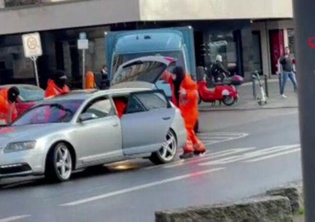 Berlin'de para nakil aracı soyuldu