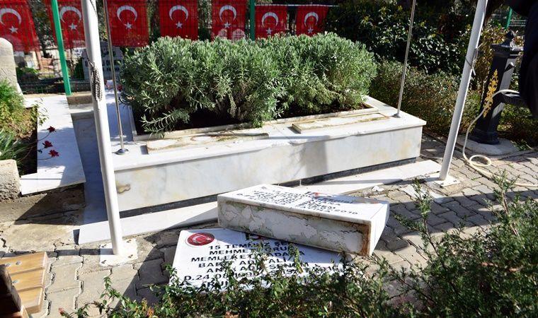 Adana'da, FETÖ'nün 15 Temmuz 2016'daki darbe girişimi sırasında hayatını kaybeden polis memuru ikizler Ahmet ve Mehmet Oruç'un kabirlerinin de arasında bulunduğu 79 mezarın taşlarına zarar verildi.