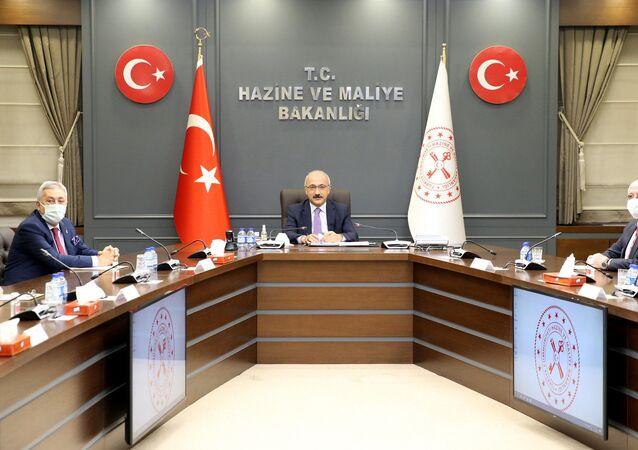 Hazine ve Maliye Bakanı Lütfi Elvan TESK Yönetim Kurulu üyelerini kabul etti