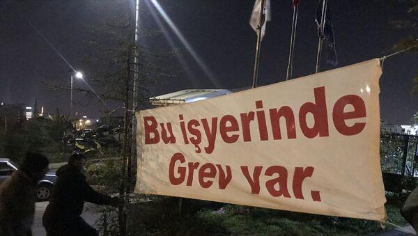 Maltepe Belediyesi işçileri - grev - Sputnik Türkiye