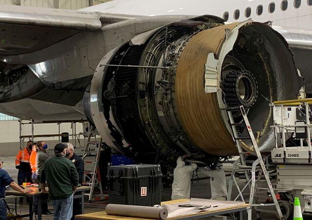 Boeing 777- Arıza yapan United Havayolları uçağı