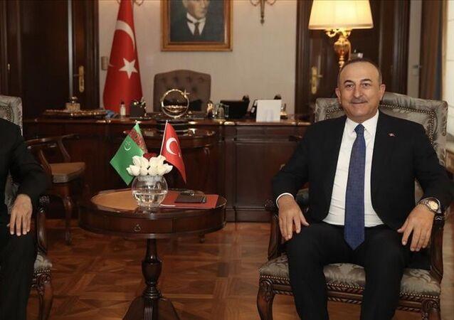 Dışişleri Bakanı Mevlüt Çavuşoğlu ve Türkmenistan Dışişleri Bakanı Raşid Meredov