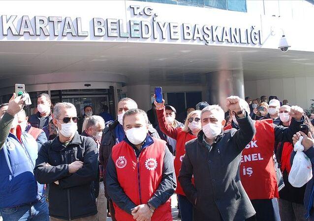 Kartal Belediyesi, grev kararı