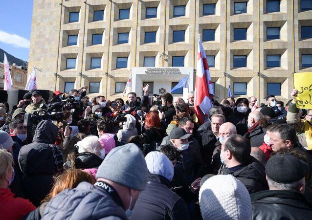 Gürcistan protesto