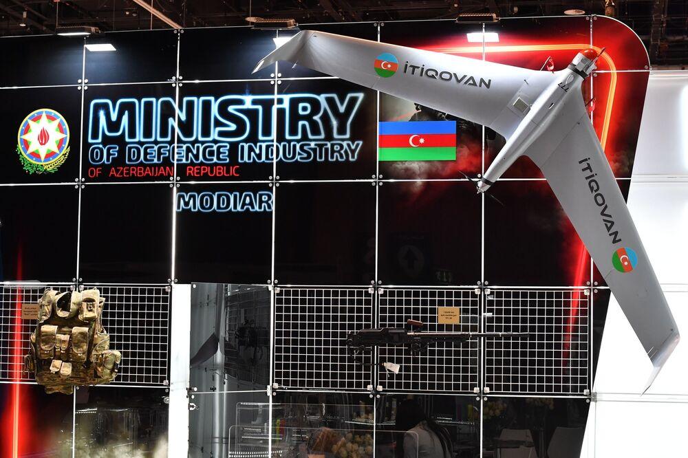 Azerbaycan'ın tanıttığı saldırı amaçlı insansız hava aracı 'İti Qovan'