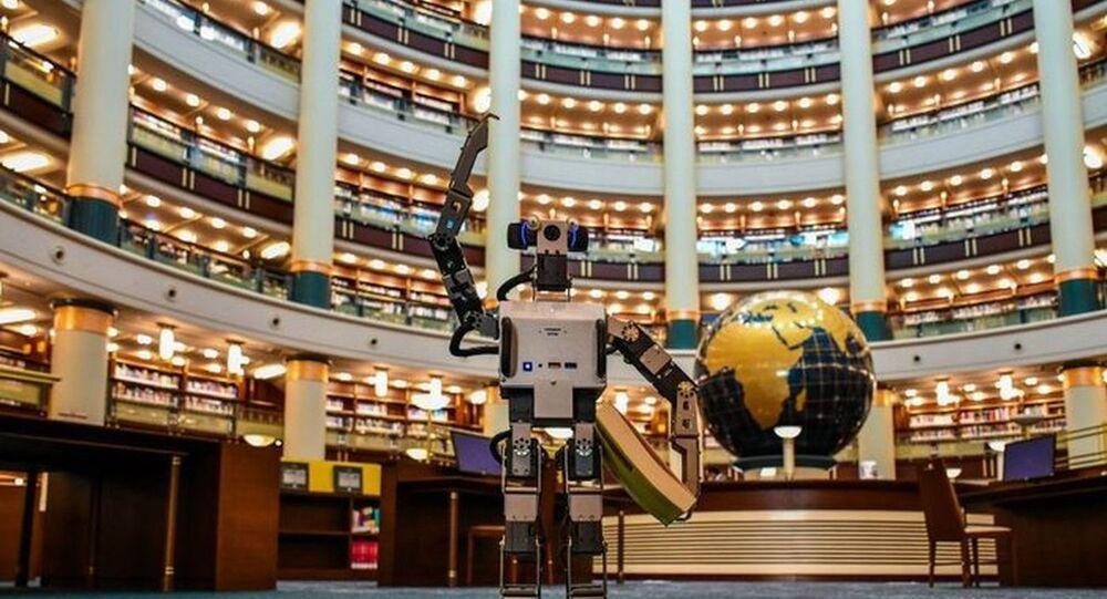 Millet Kütüphanesi'nin yapay zekalı robotu