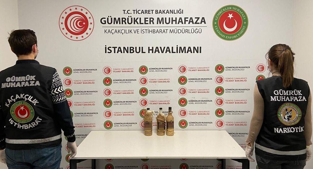 İstanbul Havalimanı'nda sıvı kokain