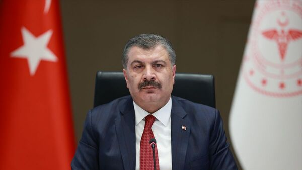 Sağlık Bakanı Fahrettin Koca, Koronavirüs Bilim Kurulu toplantısının ardından açıklamalarda bulundu. - Sputnik Türkiye