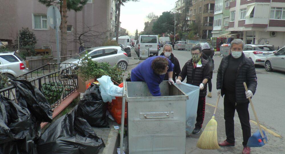 Maltepe, mahallelinin çöplerini toplaması, grev